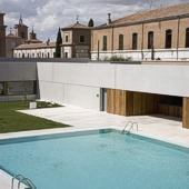 Swimming pool at Parador of Alcala de Henares - Spain