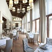 Caceres Parador restaurant
