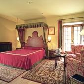 bedroom of Parador Cambados - Galicia