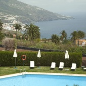 Swimming pool and view at Parador de La Palma