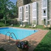 Swimming pool Parador of Monforte de Lemos in Galicia
