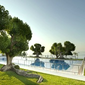swimming pool at Parador Nerja - accommodation in Spain