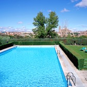 swimming pool of Parador de Salamanca