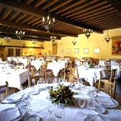 restaurant at Santillana Parador