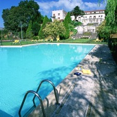 swimming pool at Parador de Tui - Galicia